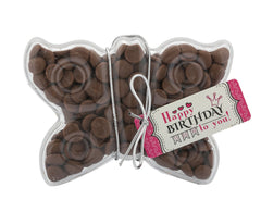 Plastic butterfly shape filled with chocolate buttons, Gift - Image 1