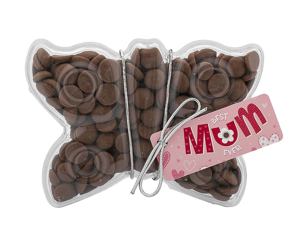 Plastic butterfly shape filled with chocolate buttons, Gift - Image 3