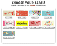 Chart with different labels for Button-its Chocolate Buttons Gifts
