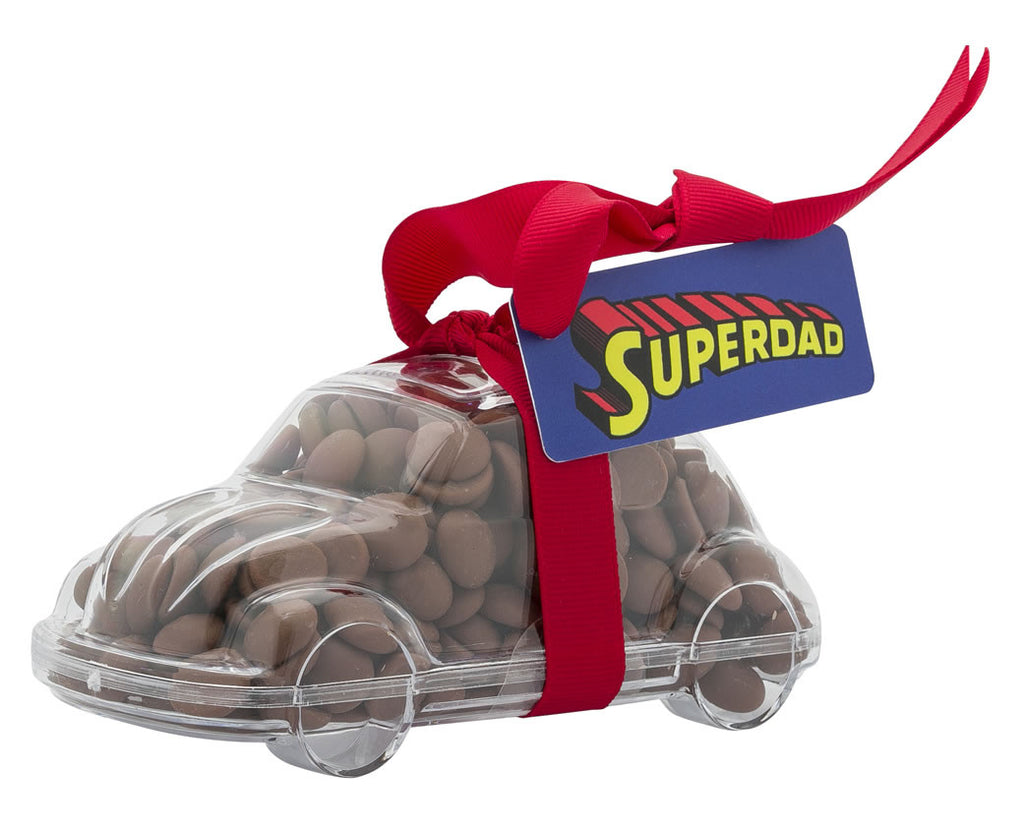 Plastic car shape filled with chocolate buttons, Gift - Image 5