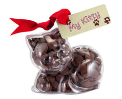 Plastic kitten shape filled with chocolate buttons, Gift - Image 1