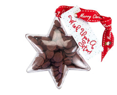 Plastic star shape filled with chocolate buttons, Christmas Gift - Image 3