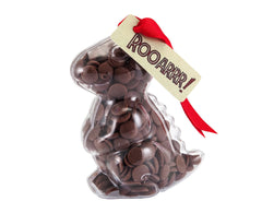 Plastic dinosaur shape filled with chocolate buttons, Gift - Image 1