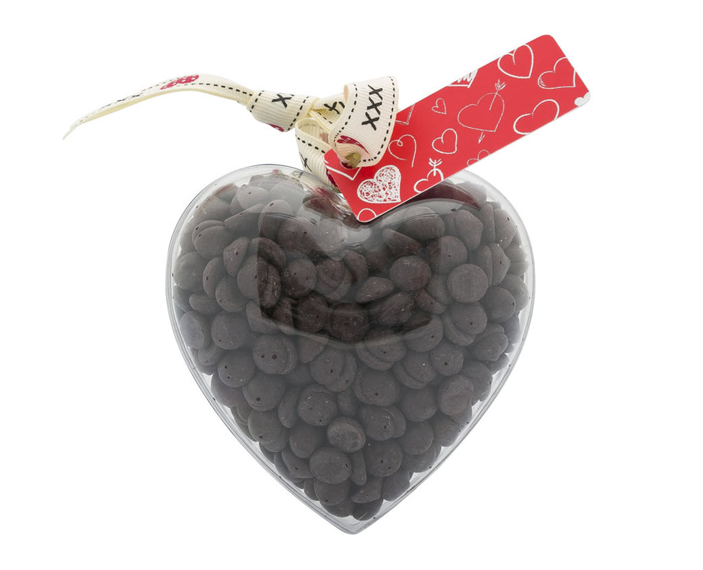 Plastic heart shape filled with chocolate buttons, Gift - Image 2