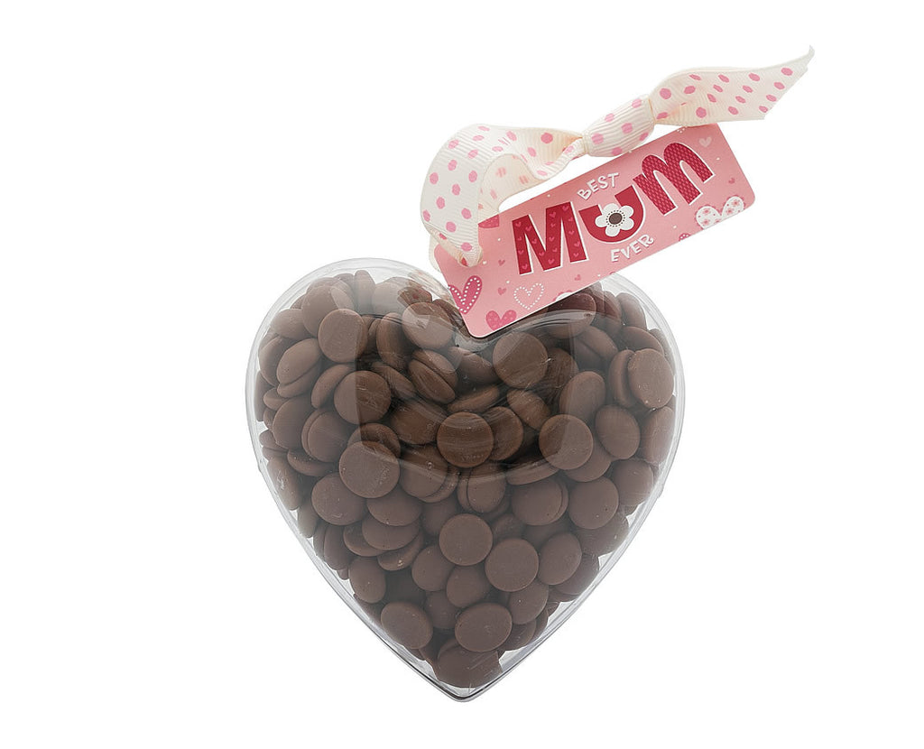 Plastic heart shape filled with chocolate buttons, Gift - Image 5