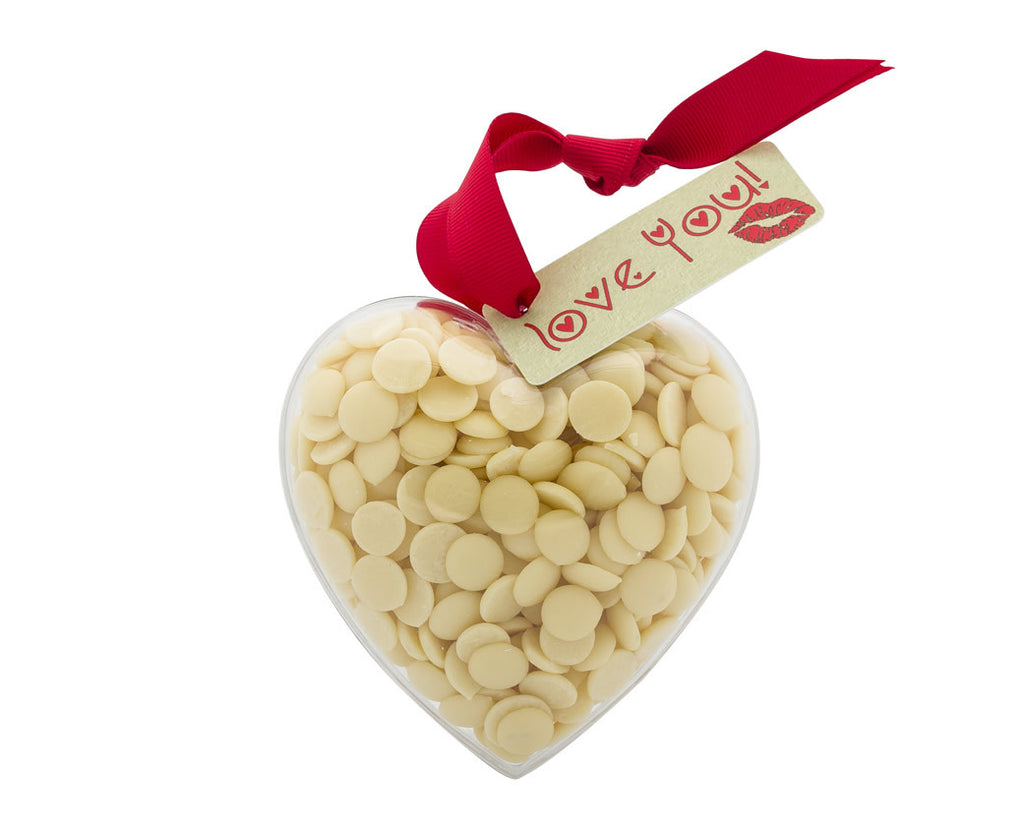 Plastic heart shape filled with chocolate buttons, Gift - Image 3