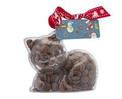 Plastic kitten shape filled with chocolate buttons, Gift - Image 4