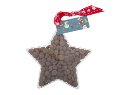 Plastic star shape filled with chocolate buttons, Gift - Image 3