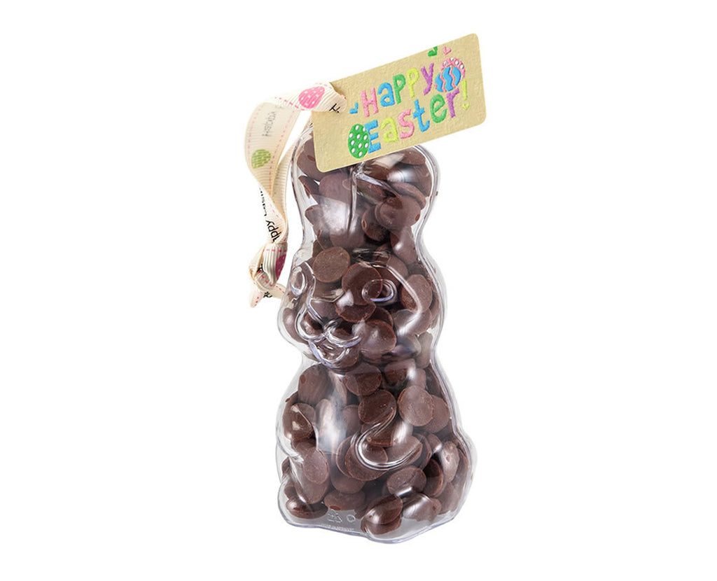 Plastic Easter Bunny shape filled with chocolate buttons, Easter Gift - Image 1
