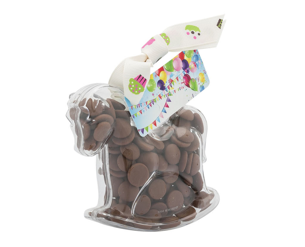 Plastic horse shape filled with chocolate buttons, Gift - Image 2