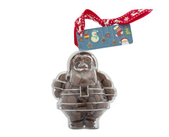 Plastic Father Christmas shape filled with chocolate buttons, Christmas Gift - Image 2