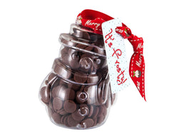 Plastic snowman shape filled with chocolate buttons, Christmas Gift - Image 3