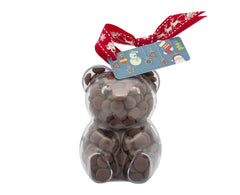 Plastic teddy bear shape filled with chocolate buttons, Gift - Image 3