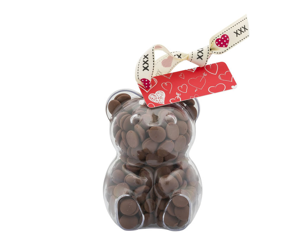 Plastic teddy bear shape filled with chocolate buttons, Gift - Image 4