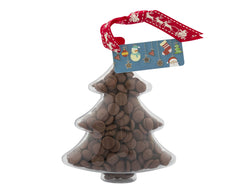Plastic Christmas Tree shape filled with chocolate buttons, Christmas Gift - Image 1