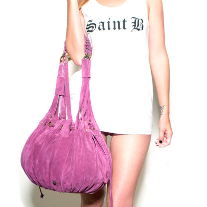 Saint Seude Leather Bag in Fuscia