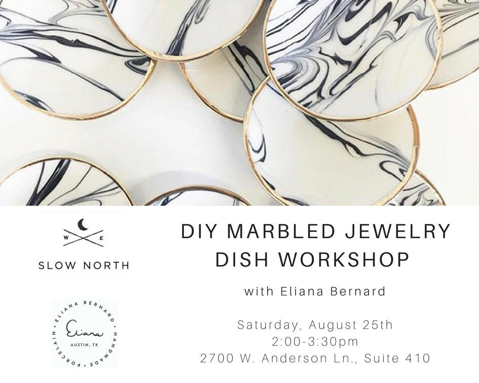 Sat., Aug. 25th - DIY Marbled Jewelry Dish Workshop