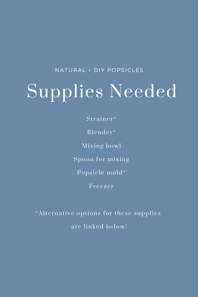 Slow North Popsicle DIY Recipe Supplies