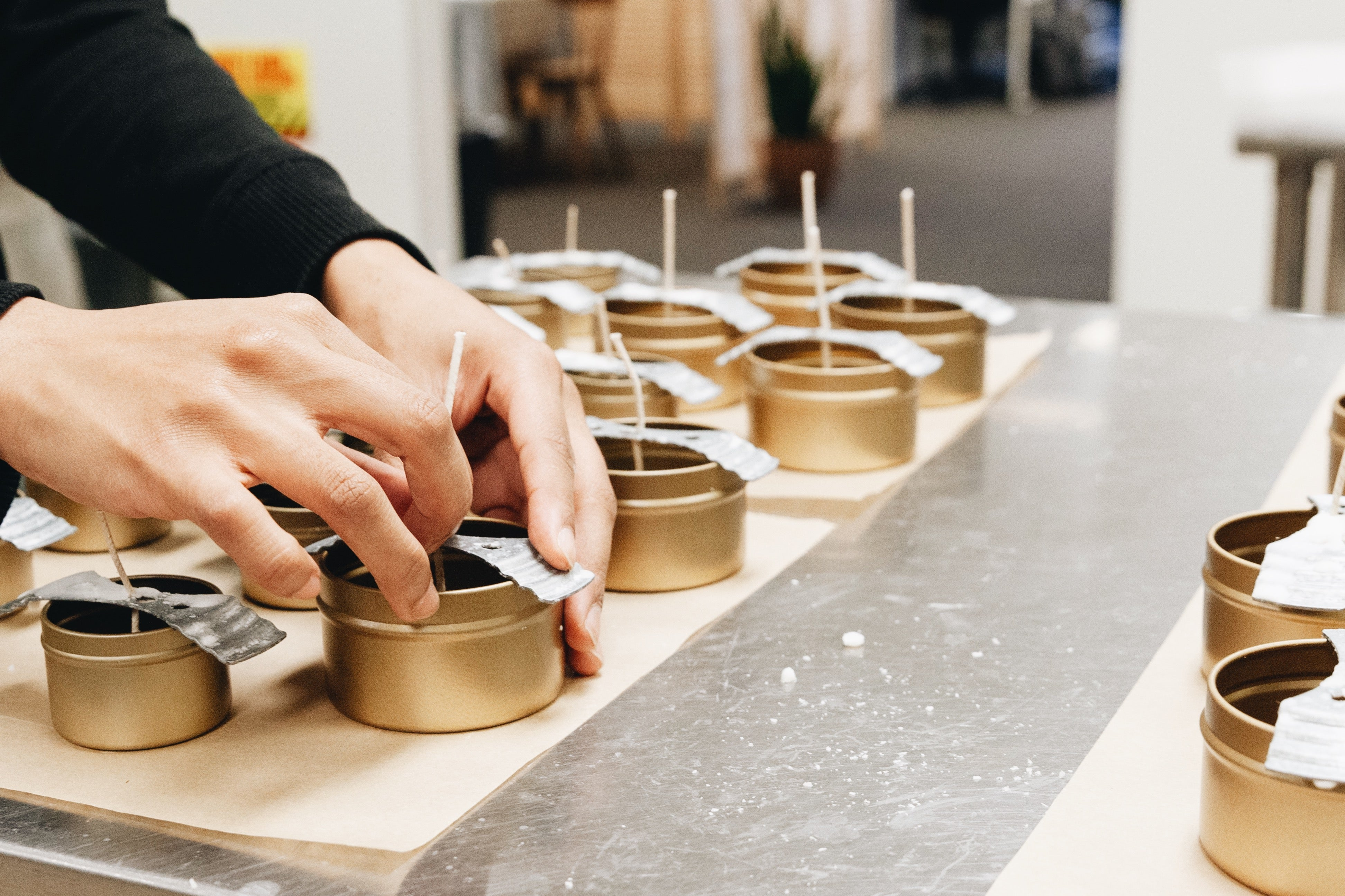 Slow North Candles being made in Austin, TX
