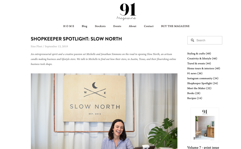 Slow North's Co-Founder Michelle Simmons shares founding story