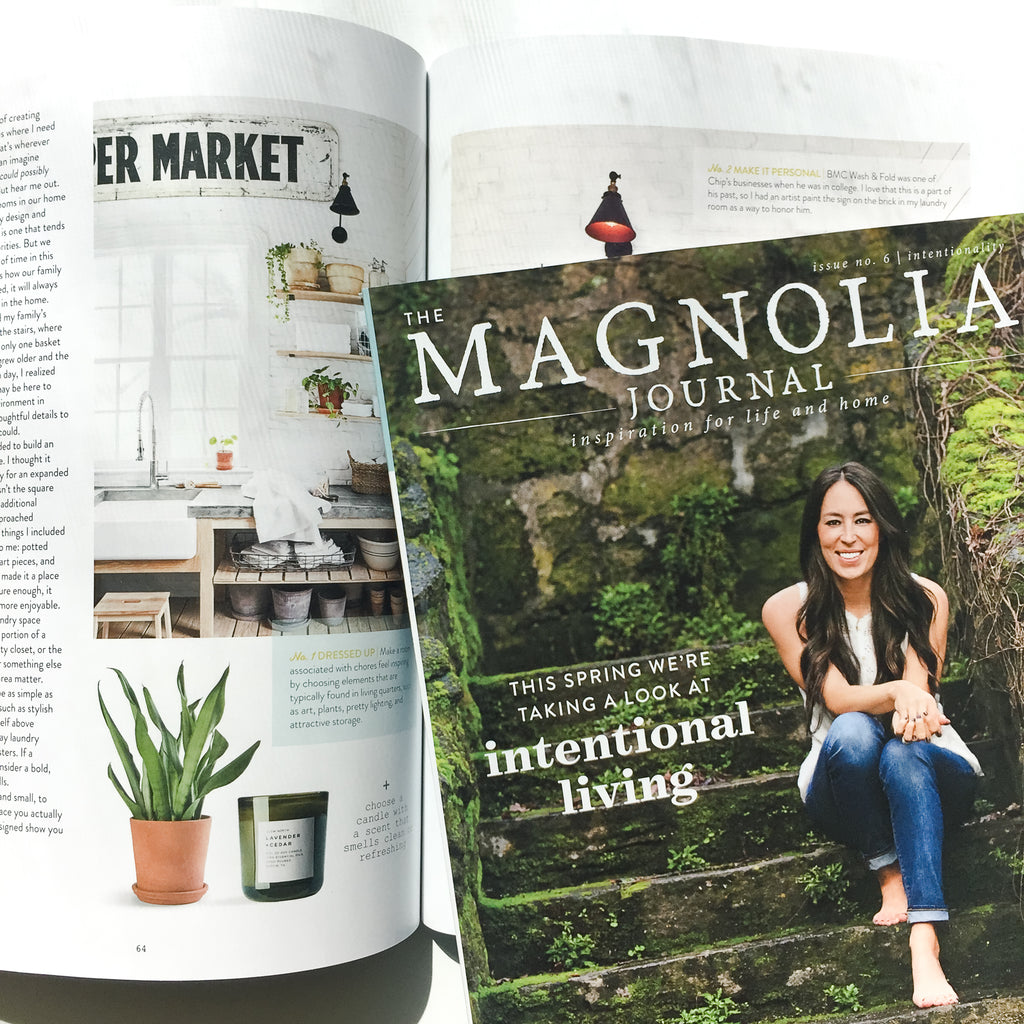 Slow North Candles featured in The Magnolia Journal