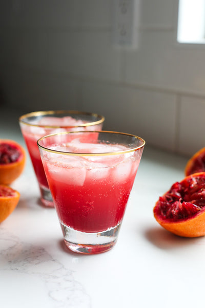 Blood Orange + Vanilla Drinks