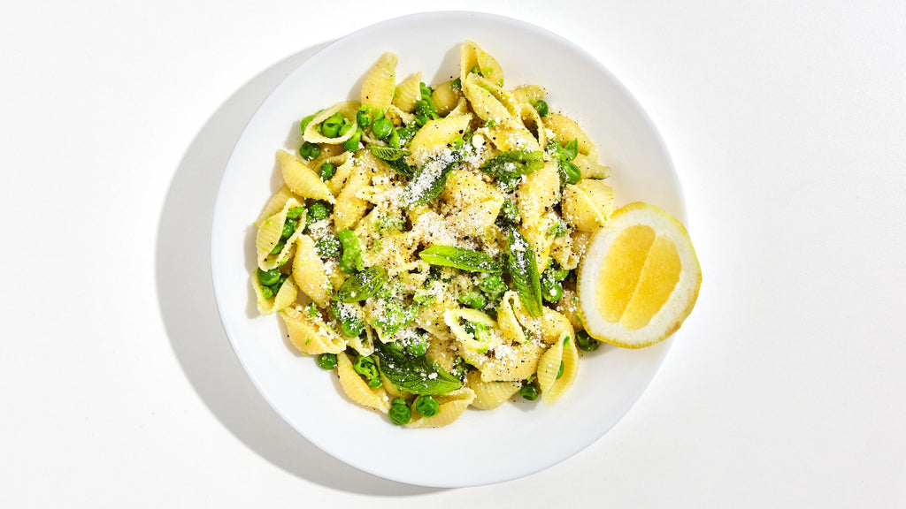 Creamy One-Pot Pasta with Peas and Mint