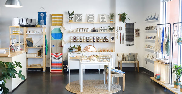 Our retail space features Slow North candles and other hand-made goods from makers around the U.S.