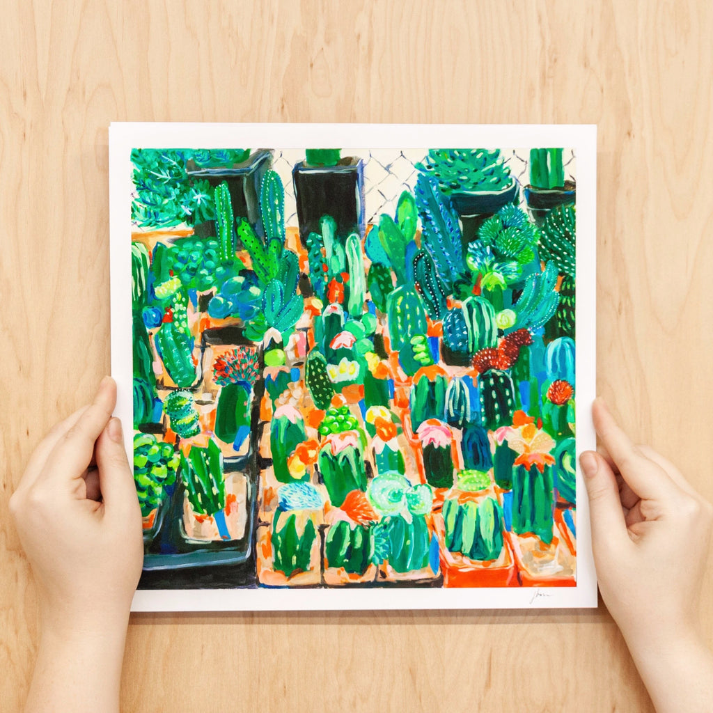 """Succulents and Cacti"" - Print"