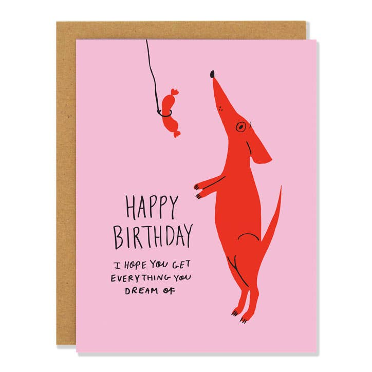 Happy Birthday Dog Dreams Card