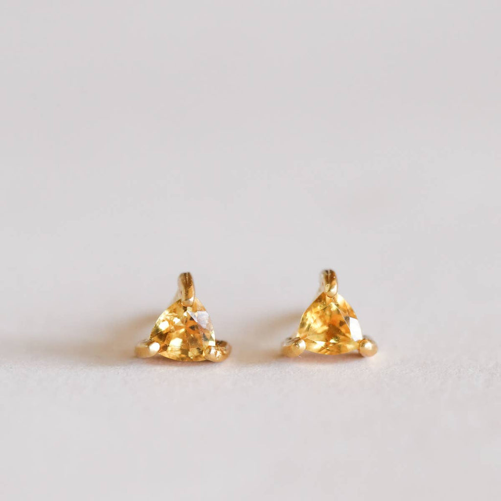Citrine Mini Energy Gem Earrings