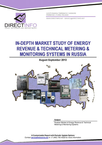 Energy Revenue, Technical Metering and Monitoring Systems in Russia