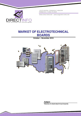 Electrotechincal Boards Market in Russia