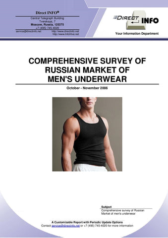Men's Underwear Market in Russia