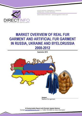 Fur Garments Market in Russia, Real and Artificial