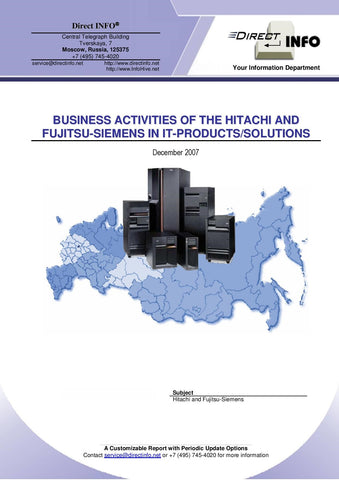 Hitachi and Fujitsu-Siemens in IT products/solutions