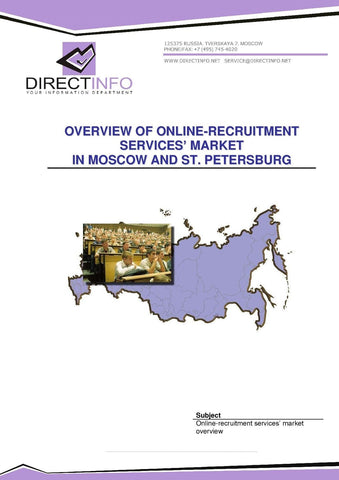 Online Recruitment Services in Moscow and St. Petersburg