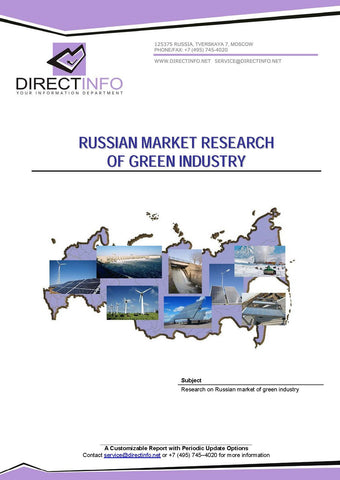 Russian Market Research of the Green Industry