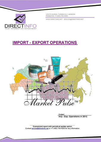 Cosmetics Industry: Import and Export Operations