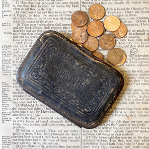 ANTIQUE FRENCH LEATHER WALLET