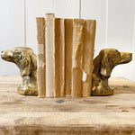 VINTAGE SETTER BRASS BOOKENDS