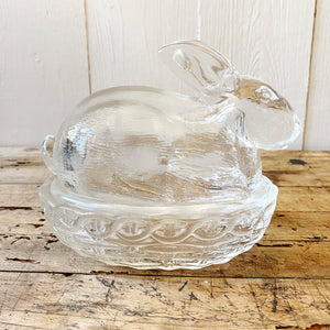 VINTAGE GLASS BUNNY