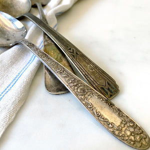 VINTAGE SILVER SERVING SPOON BUNDLE