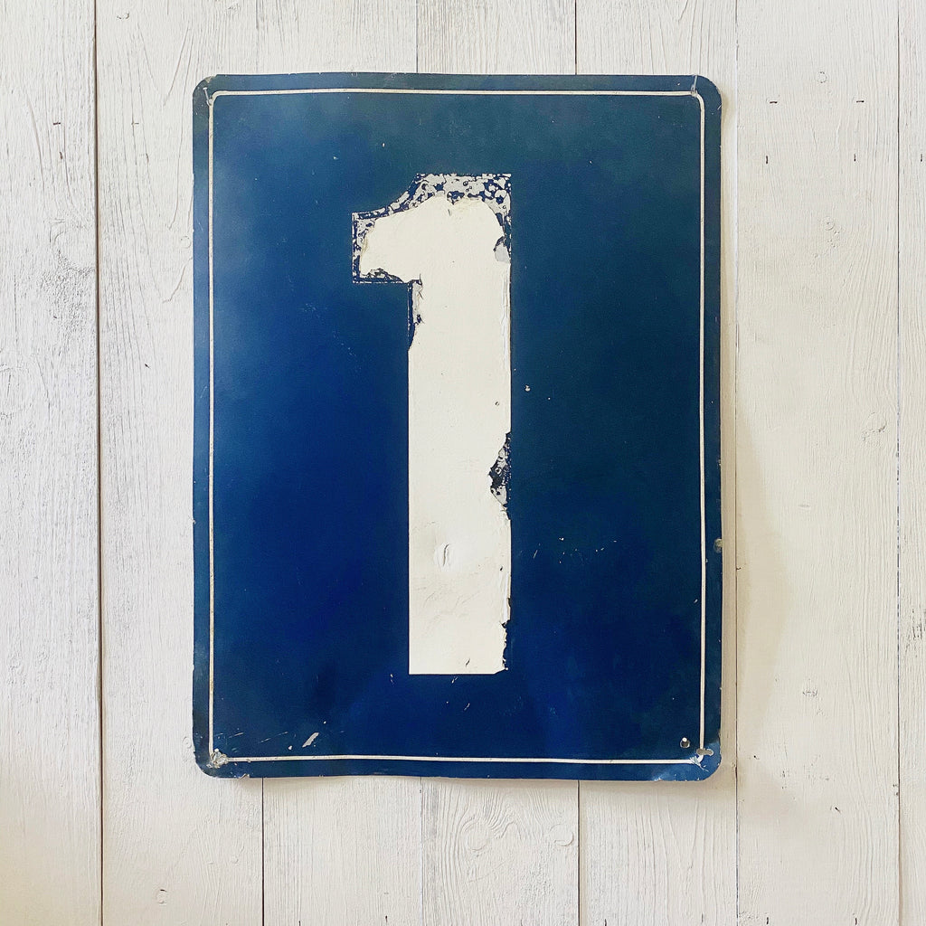 VINTAGE METAL NUMBER SIGN