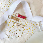 SMALL LEATHER KEY CHAIN {SHOP FOR A CAUSE}