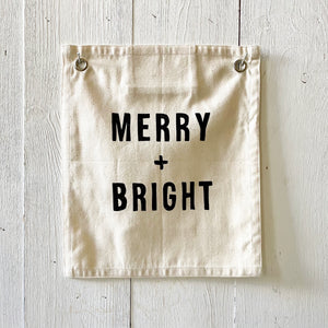 MERRY + BRIGHT CANVAS FLAG {SHOP FOR A CAUSE}