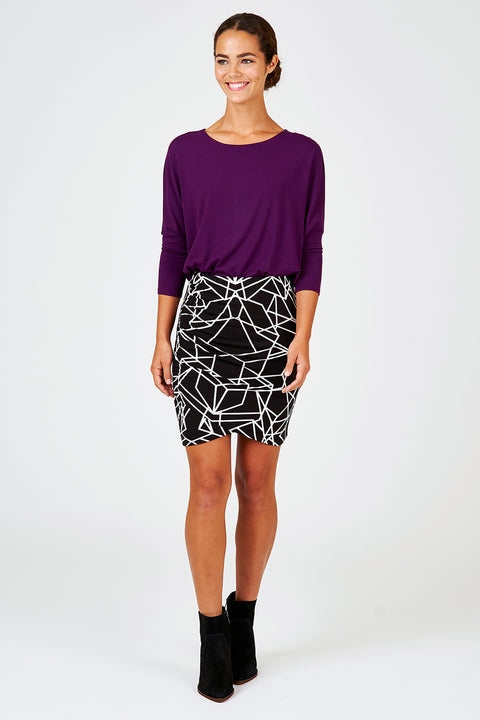 Rouched Wrap Skirt