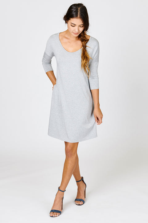Relaxed T shirt Dress w/ Pockets