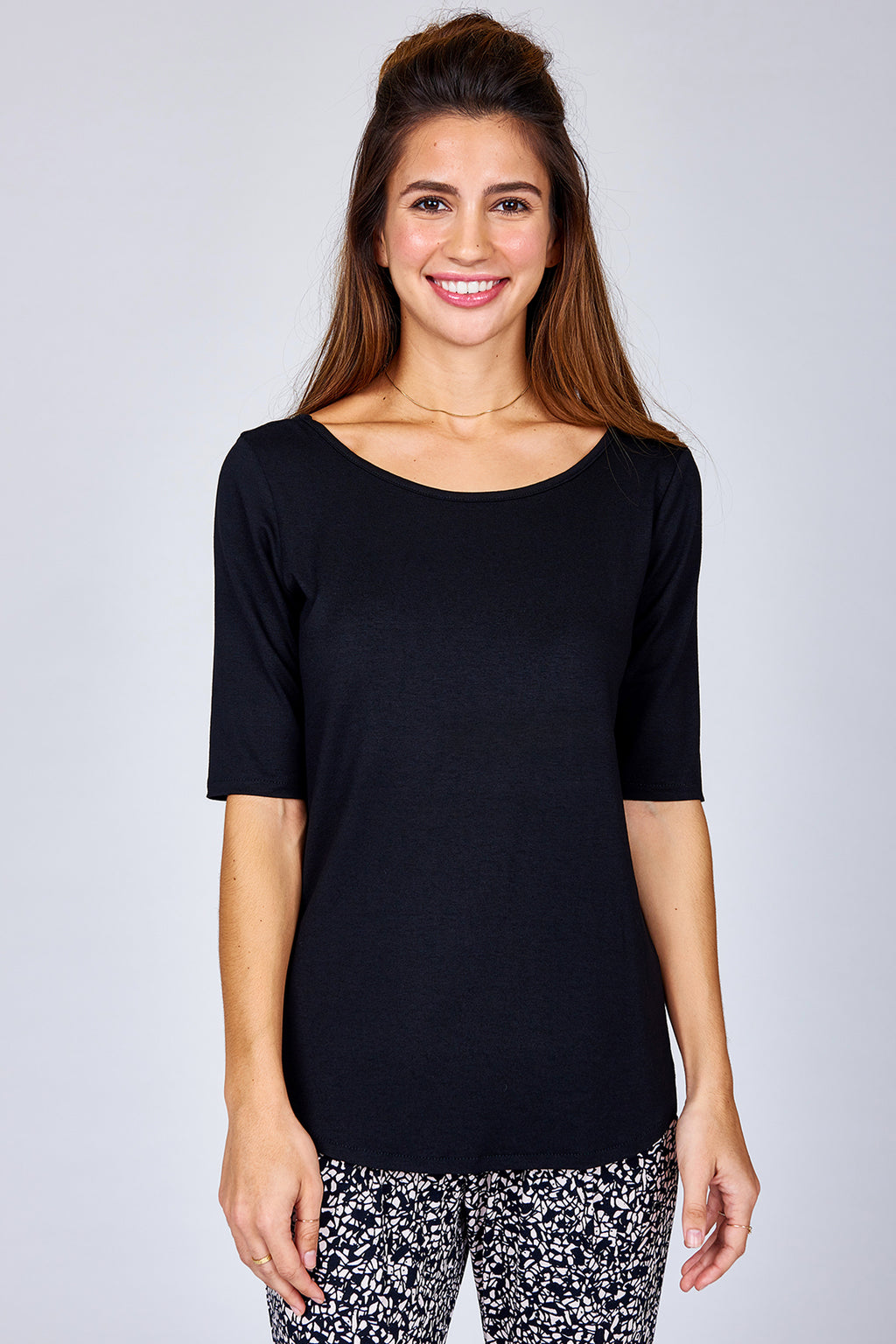 Elbow Sleeve Band Top