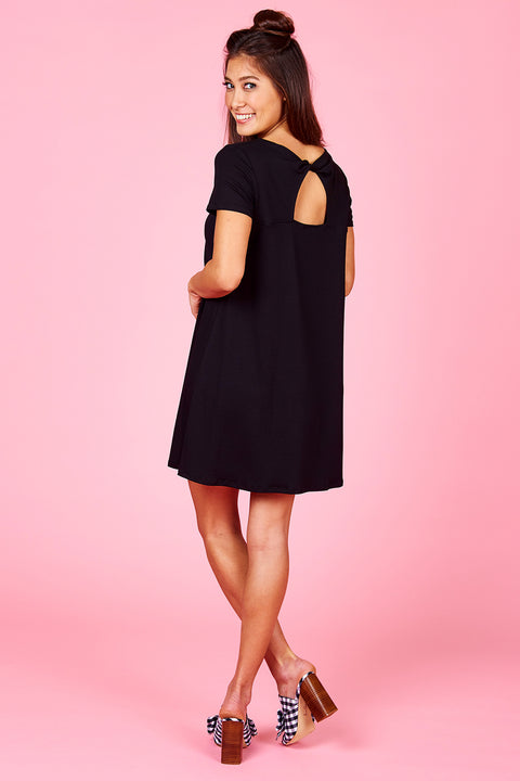 Twist Back Swing Dress